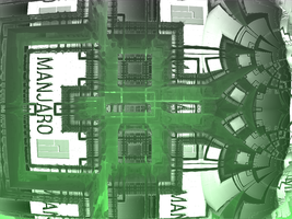 Manjaro Wp Green Machine by fraterchaos