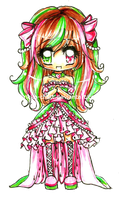 Watermelon Chibi Girl by Lettelira