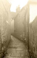 up a foggy alley by awjay