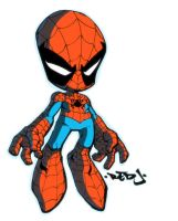 Red J Lil Spidey Cel by dcjosh