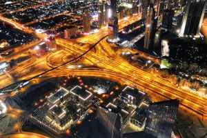 Dubai roads from the top by amirajuli