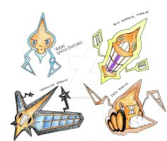 Rotom New Forms by menedeviant