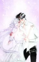 mamoru and serenity - kiss me and tell me  goodbye by zelldinchit