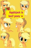 Applejack Collage by Rileytheawesome