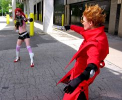 Yoko and Vash by PMconfection
