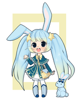 Adoptable: star-catcher bunny [SOLD] by Cherry-tama