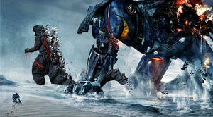 Godzilla vs Gipsy danger by ThrillerzillaArt