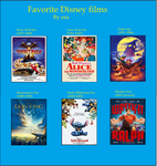 My Favorite Disney Movies by Era by FireMaster92