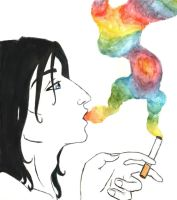 Smoke and a rainbow by ciacheczko