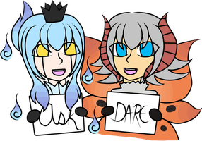 Ask or Dare: Alma and Ashens by SpiritSilverMoon117