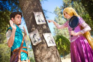 Rapunzel and Flynn Rider by NunnallyLol