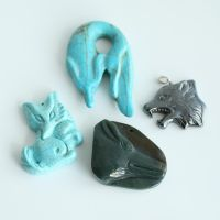 4 Fox and Wolf Pendants FOR SALE by MonsterBrandCrafts