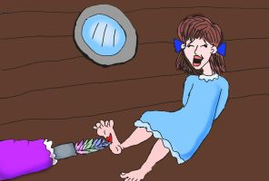 Wendy Darling tickled by Hook by rajee