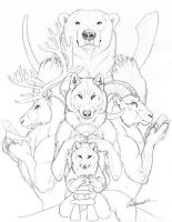 Arctic Treasures Drawing by Goldenwolf