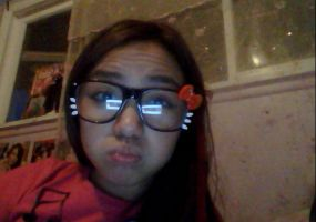Hellokitty Glasses ^-^ by Lovely-Boo