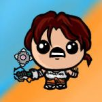 Binding of Isaac Portal 2 Chell by VampArtemis
