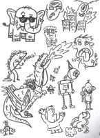 requested doodles by JoePhatty