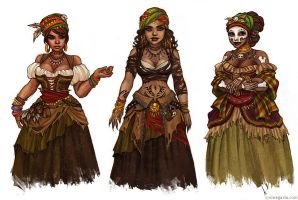 Cinders concept art. Voodoo. by vinegar