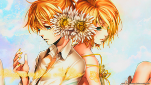 Kagamine Rin and Len Sigh Wallpaper ~ by Tsunxdere92