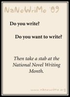 NaNoWriMo - Poster I by Pianochick66