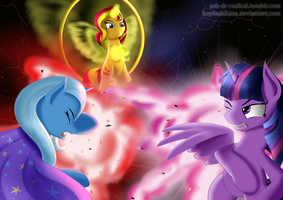 A Battle of Three Students by boyindahaus