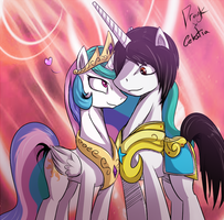 Princess Celestia x Dragk A Princess and her Guard by Dragk