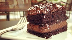 Coconut chocolate cake by elation-station