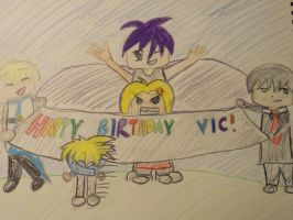 Vic's Birthday Card! by puppyspotlolcat1