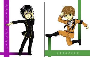 chibis: Code Geass by rain-and-sunshine