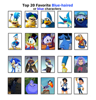 My Top 20 Blue-haired or Blue Characters by DarkDiddyKong