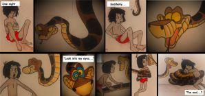 Kaa/Mowgli: New Encounter (Coloured) by alan-smithee-90