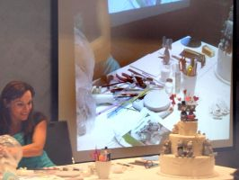 Me demonstrating at Cake convention by Verusca
