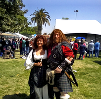 Couple in Scottish Dress by mouselady