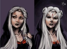 Pretresse Before and after by Junk-Dolls