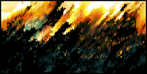 A wildfire or pixels and nightmares by Cellusious