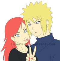 Minato and Kushina by innera