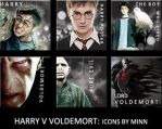 HARRY V VOLDEMORT ICON SET by Vee-Deviant
