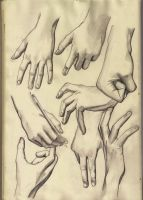 Hand Studies by KennySwanston