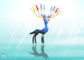 Xerneas - Majestic Encounter by Neliorra