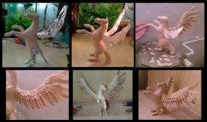 Pegasus sculpey steps by ravenoo