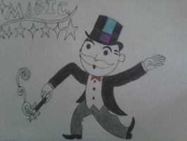 Monopoly guy With Magic Wand by TristanMendez