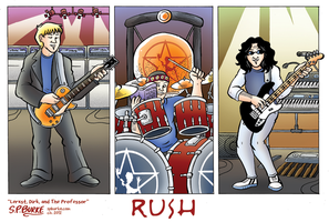 Rush - Lerxst, Dirk, and The Professor by spburke
