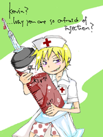 Now Injection time,Kevin by mick-kun69