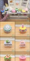 1:6 Cake and Cupcake Commission Details by Bon-AppetEats