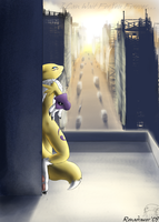 Renamon City by renadrawer