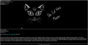 The Cat Goes Meow Journal Skin by ShadowBreath