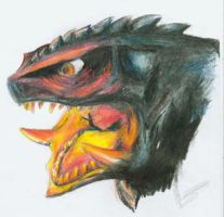 Gamera head by Amwuensch