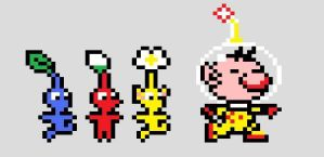 Captain Olimar and Pikmins by CrizCamacho