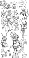 Hello I am a doodle dump by Chloemew4ever