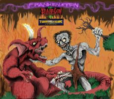 FRANKENSTEIN-vs-BARAGON by Nihilove